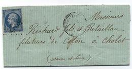 Parigné L'Eveque - SARTHE - GC 2789 Et Cachet Type 22 -  24 Février 1863 - Indice 12 - Cote 90€ - 1849-1876: Periodo Clásico
