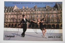Célébrités Sportifs Sophie MONIOTTE Et Pascal LAVANCHY Champions De France Patinage Artistique Couples - Autographes - Sportsmen