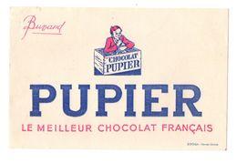 Buvard Pupier Le Meilleur Chocolat Français - Format : 20x13 Cm - Cacao
