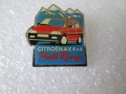 PIN'S   CITROEN  AX  4X4  PISTE ROUGE - Citroën