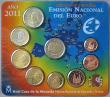 ESX2011.1 - SERIE BU EUROS ESPAGNE - 2011 - 1 Cent à 2 Euros + 2 € Cours Des Lions - España