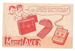 Buvard Marcel Avez Sacs Et Valises - Format : 21x13.5 Cm - Vloeipapier