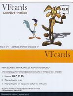 GREECE - Looney Tunes, VF Promotion Prepaid Card, Tirage 50, Exp.date 30/09/11, Sample - Disney