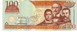 Dominican Republic  P.177b  100 Pesos 2009 Unc - República Dominicana