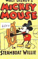 Télécarte Japon DISNEY / 110-188239 - MOVIE POSTER COLLECTION A1 (6504) MICKEY * STEAMBOAT WILLIE * Japan Phonecard - Disney