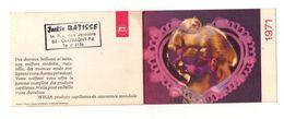 Petit Calendrier 1971 Votre Chevelure Aime Wella Aime Vos Cheveux - Jackie Batisse Clermont-Ferrand - Format :10.5x7.5 - Kalenders