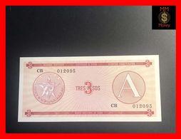 CUBA 3 Pesos 1985  P. FX 2  Serie A  UNC - Kuba