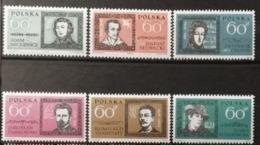 Pologne 1962 / Yvert N°1172-1177 / ** - 1944-.... République