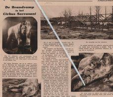 INDIANEN..1932.. DE BRANDRAMP VAN HET CIRCUS SARRASSANI OP HET MILITAIR GRONDGEBIED TE BERCHEM - Vecchi Documenti