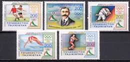 Tadzikistan 1996 Olympic Games Atlanta, Football Soccer, Judo Etc. Set Of 5 MNH - Summer 1996: Atlanta