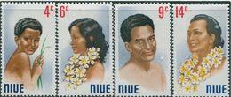 Niue 1971, Portraits Of Indigenous People, MNH Stamps Set - Niue