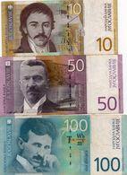 JUGOSLAVIA 10,50,100  DINARA 2000  P-153,155a,156a CIRCOLATE - Yugoslavia