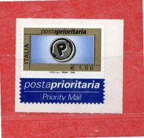 Italia ** -  2004 - Posta Prioritaria.€ 1,00 -  Unif. 2842. - 2001-10:  Nuevos