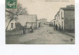Rare CPA - Saint-martial-de-coculet (Saint Martial Sur Le Né) - Rue Principale -  Edition C.C.C.C -  Circulée  - - Altri Comuni