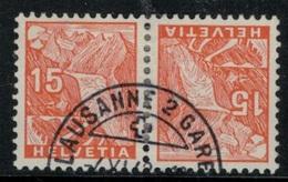 Suisse // Schweiz // Switzerland // Tête-Bêche // Paysages  No.K30 Oblitéré - Tete Beche