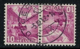 Suisse // Schweiz // Switzerland // Tête-Bêche // Paysages  No.K33z Oblitéré - Tete Beche