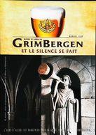 Carte Postale Publicité Bouteille De Bière - Grimbergen - Bière