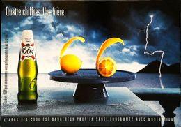 Carte Postale Publicité Bouteille De Bière - Publicité 1664  Citron Zeste - Bière