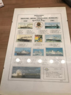 Poster (ingekaderd) Herinnering Aan De Lijn Oostende - Dover - Folkestone - Ramsgate - Oostende