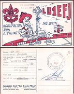 "QSL LU1EFJ Argentina To LU4DZE Argentina Groupe De Scouts ""Don Ernesto Pilling"" - 18/10/1981 - Cygnus - Radio"