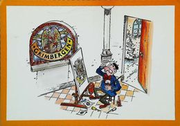 Carte Postale Publicité Bouteille De Bière  - Beer Grimbergen - Bière