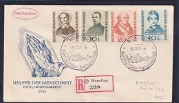 Bund, FDC. Mi.-Nr.  222-225  - [7] Federal Republic