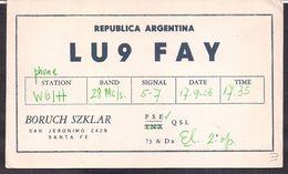 QSL LU9FAY Argentina To W6IH California  - 17/09/1956 - Cygnus - Radio