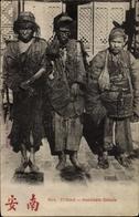 Cp Yunnam China, Mendiants Chinois, Chinesische Bettler, Barfüßig, Lumpen - Chine