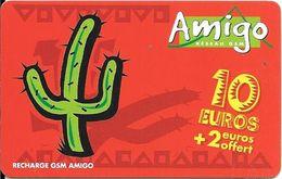 CARTE-PREPAYEE-ANTILLES ST MARTIN-GSM-AMIGO-10€+2€-2000Ex-Gratté-TBE-RARE - Frankreich