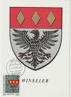 Carte Maximum LUXEMBOURG N°Yvert 1036 (ARMOIRIES WINSELER) Obl Sp Wiltz 1983 - 1934-1951