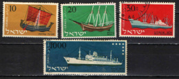 ISRAELE - 1958 - NAVI ANTICHE - USATI - Israel