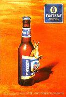 Carte Postale Publicité Bouteille De Bière - Publicité  Foster's Bière Kangourou - Bière