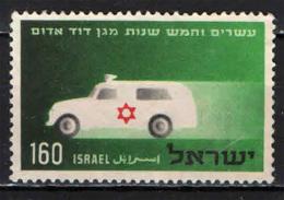 ISRAELE - 1955 - AMBULANZA - CROCE ROSSA DI ISRAELE - USATO - Israel