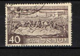 ISRAELE - 1951 - TEL AVIVI - 40° ANNIVERSARIO DELLA FONDAZIONE - USATO - Israel