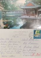 J) 1922 CHINA, LAKE, HOUSE, POSTCARD, AIRMAIL, CIRCULATED COVER, FROM CHINA TO DENMARK - China