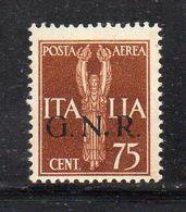RSI223 - GNR 1944 , Posta Aerea 75 Centesimi Integro  ***  MNH - Airmail