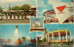 New York World's Fair 1964-1965 Glide A Ride Trains Solar Fountain Monorail And New York State Tent Of Tomorrow - Expositions