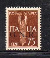 RSI224 - GNR 1944 , Posta Aerea 75 Centesimi Integro  ***  MNH - Airmail