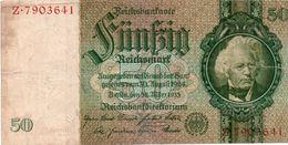 GERMANY- 50 REICHSMARK 1933  P-182a.2  Circ . - [ 4] 1933-1945: Derde Rijk