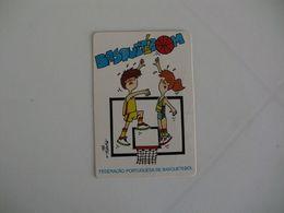 Sports Basketball Basquetebol Federação Portuguesa De Basquetebol Portugal Portuguese Pocket Calendar 1987/1988 - Calendari