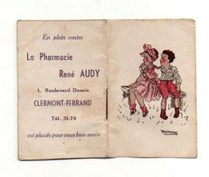 Petit Almanach Pour 1945 - Pharmacie René Audy Clermont-Ferrand - Format : 7.5x5 Cm - Calendriers