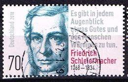 Bund 2018, Michel# 3418 O WeihnachtenFriedrich Schleiermacher 250. Geburtstag - [7] Federal Republic