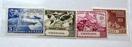 GRENADA 1949, UPU, 4 VALORI   MNH** - Grenada (1974-...)