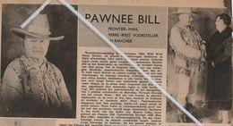 INDIANEN..1938..PAWNEE BILL WERELDTENTOONSTELLING ANTWERPEN 1894 WILD WEST SHOW - Vecchi Documenti
