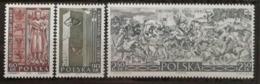 Pologne 1960 / Yvert N°1039-1041 / ** - 1944-.... République