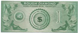 GERMANY - ROUGH DIAMOND-1 DOLLAR-MOSELSTRASSE - FRANKFURT-Fantasy Issues - POLYMER-CIRC - Billets