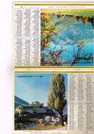 Almanach PTT  Paix Des Troupeaux à L'ombre Des Rochers Tout à L'entour De Nos Rempart Nos Ennemi En Furi 92  93  94 - 74 - Calendars