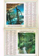 Almanach PTT  Le Vernaison Aux Baraques En Vercors Le Lac Pavin 63 - 75 Paris - 92  93  94 - 1973 - Calendars