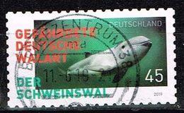 Bund 2019, Michel# 3437 O  Gefährdete Tiere In Deutschland, Schweinswal, Selbstklebend - [7] República Federal