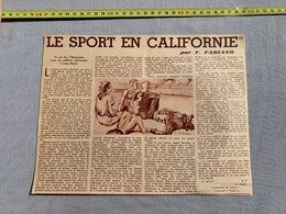 1936 M SPORT EN CALIFORNIE PAR FABIANO RALPH METCLAFE - Vieux Papiers